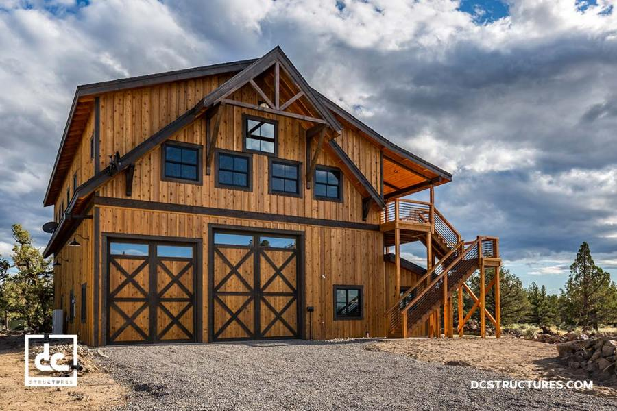 Barn Home Kits   DC Structures Whether our clients are looking to build a two story barn house or a  cabin style one story barn home  we can accommodate their needs with our  selection of