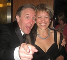 Actors John Lescault and Naomi Jacobson