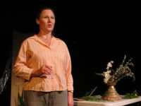 """Rachel Evangeline Barham singing """"Plumtree"""" in Oblivion. Photo Credit: Kyle Gullings"""