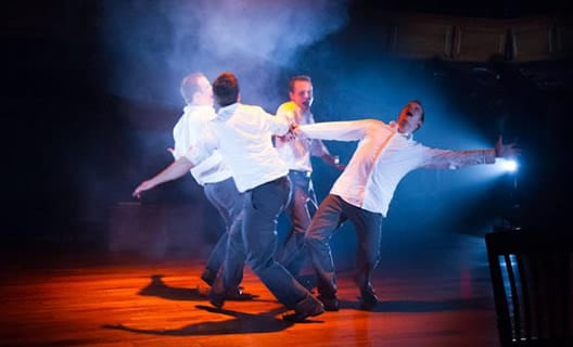 (from left) Alex Mills, Joel David Santner, Rex Daugherty, and Jefferson Farber (Photo: Teresa Wood)
