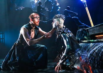 Philip Fletcher as Prospero and Dan Istrate as Ariel (Photo: Johnny Shryock)