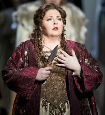 Angela Meade as Norma (Photo by Scott Suchman)