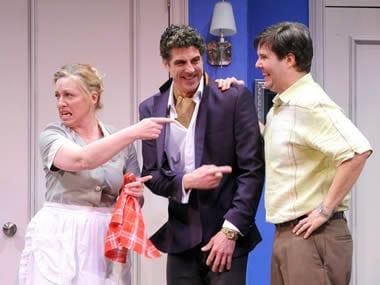 Nanna Ingvarsson as Berthe, James Whalen as Bernard and Paul Edward Hope (Photo: Stan Barouh )