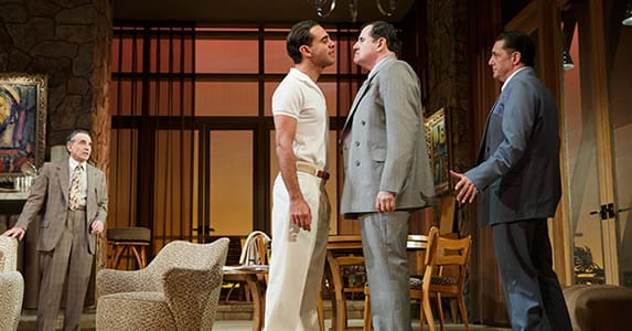 (l-r) Chip Zien, Bobby Cannavale, Richard Kind and Reg Rogers (Photo: Joan Marcus)