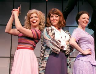 (l-r) Crystal Mosse, Annie Newstead and Sarah Hund in the touring production of 9 to 5