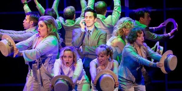 "The cast of ""Company"" (Matthew Scott; center). Photo: Scott Suchman)"