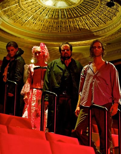 The Cast of Richard Campbell's Frankenstein (l-r:) Robert Bradley, Irene Jericho, Andrew Lloyd Baughman and Greg Bowen (Photo: Jack Sossman).