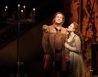 David Pittsinger as King Arthur and Andriana Chuchman as Guenevere  (Photo: Karli Cadel/The Glimmerglass Festival)