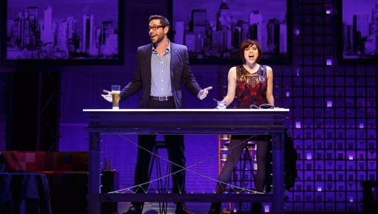 Zachary Levi as Aaron and Krysta Rodriguez as Casey (Photo: Joan Marcus)