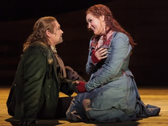 Jay Hunter Morris as Erik and Melody Moore as Senta (Photo: Karli Cadel/The Glimmerglass Festival)