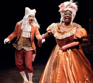 David James and Theresa Cunningham as The Thenardiers. (Photo: Kirstine Christiansen)