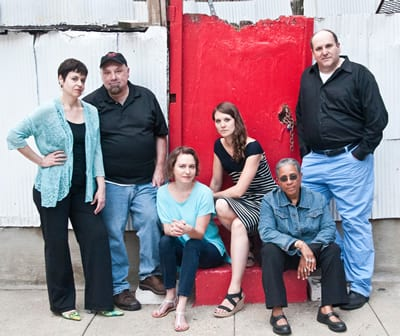The Welders founders: (l to r) Renee Calarco, Bob Bartlett, Alyson Currin, Jojo Ruf, ___ Jennings, Gwuidyion Suilebhan (Photo: Teresa Castracane)