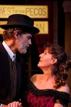 Scott Sedar as Judge Roy Bean and Heather Bingham as Lillie Langtry (Photo: Angelisa Gillyard)