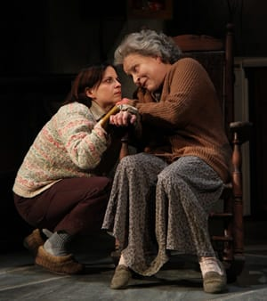 (l-r) Kimberly Gilbert as Maureen and Sarah Marshall as Mag (Photo: Danisha Crosby)