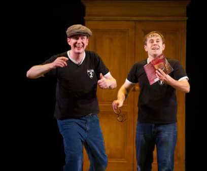 Daniel Clarkson and Jeff Turner in Potted Potter. (Photo: Brian Friedman)