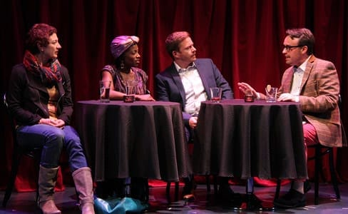 (l-r) Lise Bruneau as Jane, Felicia Curry as Marrell, Will Gartshore as Jean-Pierre, and Michael Glenn as Alan (Photo by Danisha Crosby)