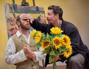 Ryan Tumulty as Vincent Van Gogh and Brit Herring as Paul Gauguin (Photo: C. Stanley Photography)