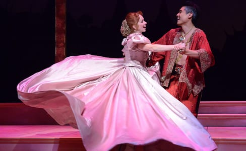 Paolo Montalban as The King and Eileen Ward as Anna (Photo: Stan Barouh)