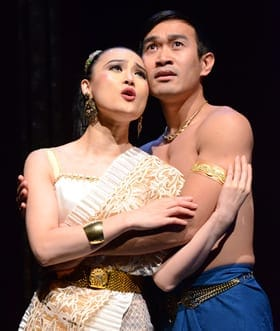 YoonJeong Seong as Tuptim and Eymard Cabling as Lun Tha (Photo: Stan Barouh)