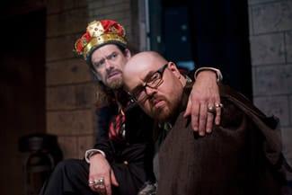 (l-r) Ian Armstrong (as King John and Slice Hicks as Hubert (Photo: Christopher Maddaloni)