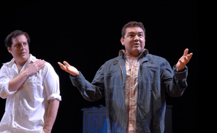 Michael Russotto and Daniel Escobar in She Stoops to Comedy (Photo: Stan Barouh)