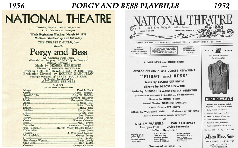 porgy national playbills