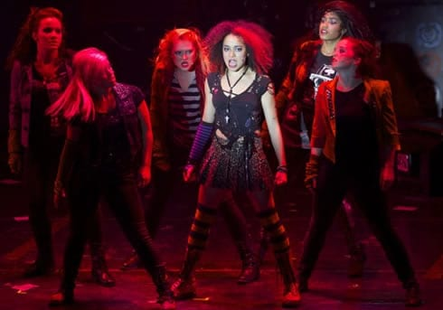 Olivia Puckett as 'Whatsername' and the women of American Idiot (Photo: Jeremy Daniel)
