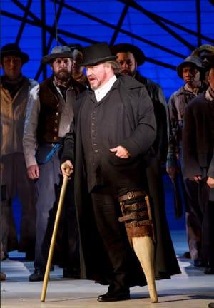 Carl Tanner as Captain Ahab. (Photo: Scott Suchman for WNO)
