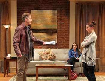 Marty Lodge as Leonard, Katie deBuys as Kate and Laura C. Harris as Izzy. (Photo: Danisha Crosby)