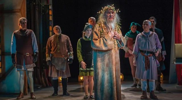 Carl Schurr as Sir and the Ensemble. (Photo: ClintonBPhotography)
