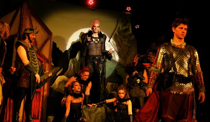 The Dark King Lothario (Greg Bowen) and his Minions (Photo: Heather Keating)