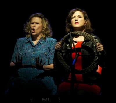 (l-r) Sarah Holt as Helen and K. Clare Johnson as Miranda. (Photo : Stephen Spotswood)