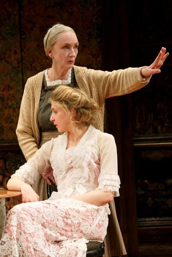 "Kathleen Chalfant and Nina Arianda in David Grimm's ""Tales from Red Vienna,""  (Photo: Joan Marcus)"