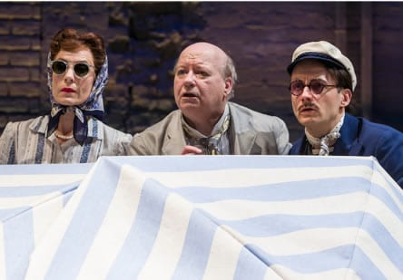 Julie-Ann Elliott as Maria, Brian Reddy as Sir Toby Belch and Richard Hollis as Sir Andrew Aguecheek  (Photo: Richard Anderson)