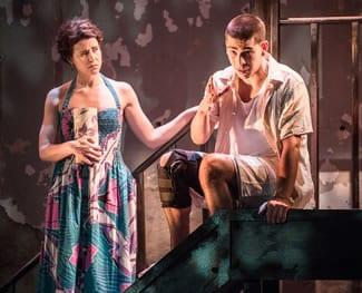 Gisela Chípe as Yaz and Arturo Soria as Elliot (Photo: Teddi Wolff)