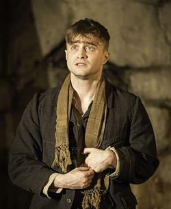 Daniel Radcliffe as Cripple Billy (Photo: Johan Persson)