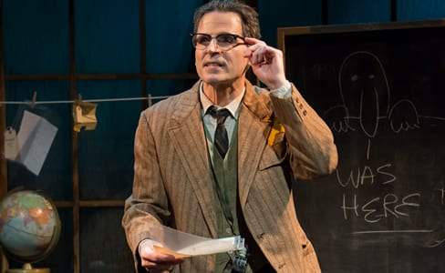 Paul Morella as The Librarian in Underneat the Lintel (Photo: Chris Banks)