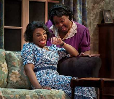 (l-r) Dawn Ursula as Vera Stark and Kelli Blackwell as Lottie McBride. (Photo: ClintonBPhotography)