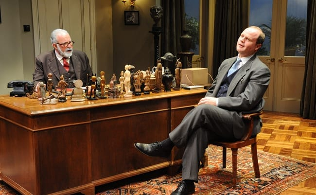 (l-r) Rick Foucheux as Freud and Todd Scofield as Lewis. (Photo by Stan Barouh)