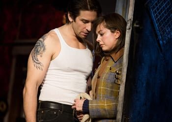 Andy Karl and Margo Seibert in Rocky.