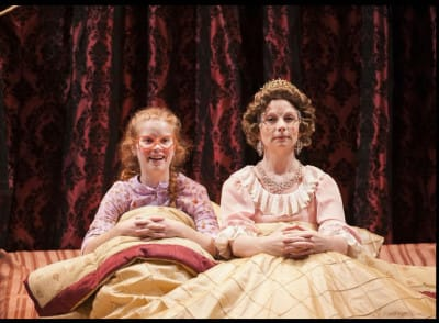 Megan Graves as Sophie and Susan Lynskey as The Queen (Photo: Margot Schulman)