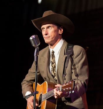 Jason Petty as Hank Williams (Photo: Nancy Anderson Cordell)