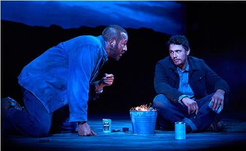 Chris O'Dowd and James Franco (Photo: Richard Phibbs)