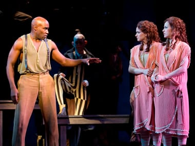 David St. Louis as Jake, Emily Padgett as Daisy, Erin Davie as Violet (Photo: Joan Marcus)