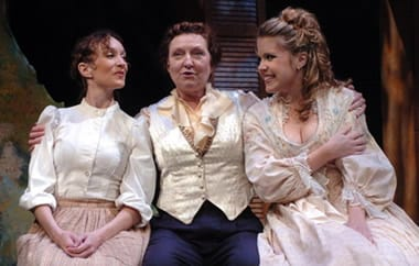 (l-r) Mary Jayne Raleigh, Kat'Taylor and Meegan Midkiff in Becoming George at MetroStage Photo credit: Stan Barouh