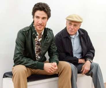 (l-r) Ben Mehl as Jonathan Pollard and Joel Rooks as Rafi Eitan