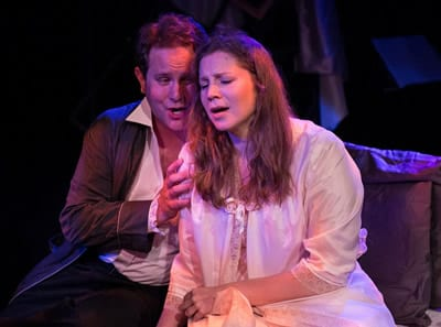 Jason Hentrich as Roderick and Kristina Riegle as Madeline (Photo: Teresa Castracane Photography)