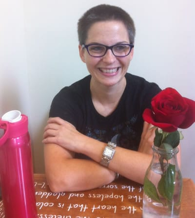 Kimberly Gilbert during our interview (Photo: Alan Katz)
