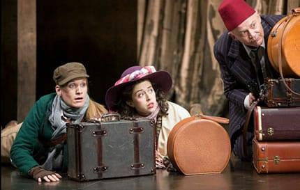 Zoë Waites as Rosalind, Adina Verson as Celia and Andrew Weems as Touchstone  (Photo: Scott Suchman)