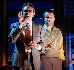 Larry Pine as Raymond Chandler and Vincent Kartheiser as Billy Wilder  (Photo: Carol Rosegg)